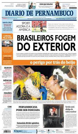 Brasileiros nos Estados Unidos ponto com Mencionado no Diário de Pernambuco